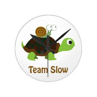 Team Slow Round Clock