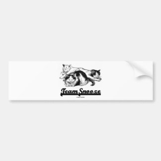 Team Snooze (Three Sleeping Snuggling Cats) Bumper Sticker