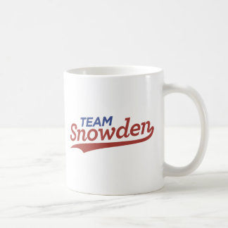 Team Snowden Script Coffee Mug