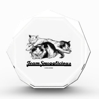Team Snugglicious (Three Cats Snoozing) Acrylic Award