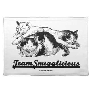 Team Snugglicious (Three Cats Snoozing) Placemat
