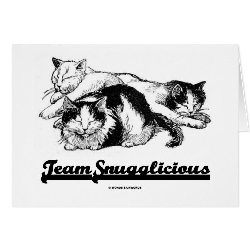 Team Snugglicious (Three Snoozing Cats) Cards
