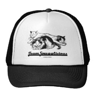 Team Snugglicious (Three Snoozing Cats) Trucker Hat