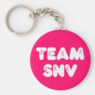 Team SNV Basic Round Button Keychain