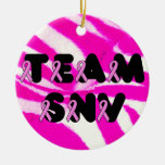 Team SNV Double-Sided Ceramic Round Christmas Ornament