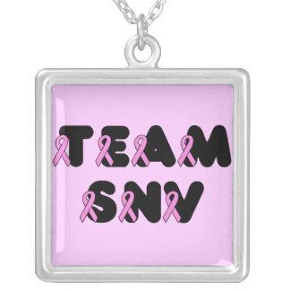Team SNV Square Pendant Necklace