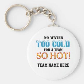 Team So Hot Basic Round Button Keychain