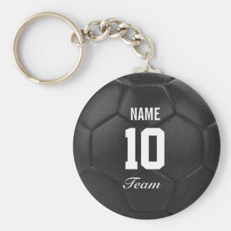 Team Soccer Ball Personalized Name Keychain
