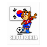 Team South Korea Football Postcard