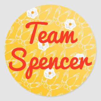 Team Spencer Classic Round Sticker