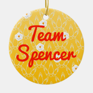Team Spencer Double-Sided Ceramic Round Christmas Ornament