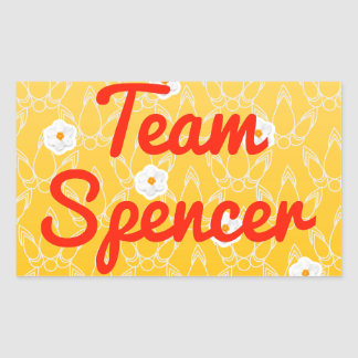 Team Spencer Rectangular Sticker