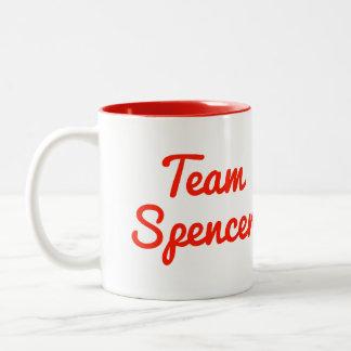 Team Spencer Two-Tone Coffee Mug
