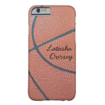 Team Spirit_Basketball texture_Autograph-Style Barely There iPhone 6 Case