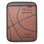Team Spirit_Basketball texture_Autograph Style iPad Sleeves