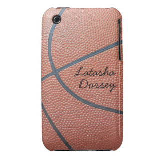 Team Spirit_Basketball texture_Autograph Style iPhone 3 Case