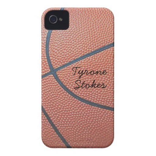 Team Spirit_Basketball texture_Autograph-Style iPhone 4 Cover