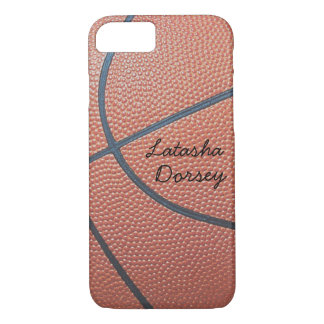 Team Spirit_Basketball texture_Autograph-Style iPhone 7 Case