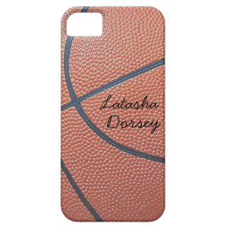 Team Spirit_Basketball texture_Autograph-Style iPhone SE/5/5s Case
