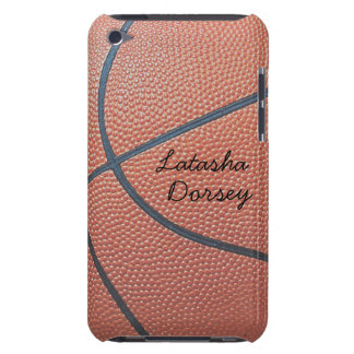 Team Spirit_Basketball texture_Autograph Style iPod Case-Mate Case