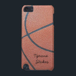 "Team Spirit_Basketball texture_Autograph Style iPod Touch (5th Generation) Cover<br><div class=""desc"">Talk about great stuff. Also makes a great holiday stocking stuffer for any child (or child at heart) who loves the roundball. To personalize it,  just add your name in the available template field. For additional designing options,  just click &quot;Customize it, &quot; and away you go!</div>"