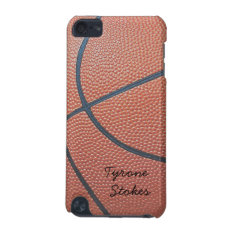 Team Spirit_basketball Texture_autograph Style Ipod Touch (5th Generation) Cover at Zazzle