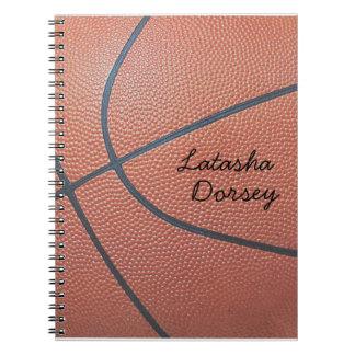 Team Spirit_Basketball texture_Autograph Style Spiral Notebooks