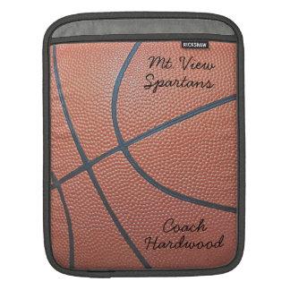Team Spirit_Basketball texture_Autograph Style Sleeve For iPads