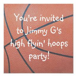 Team Spirit_Basketball texture Birthday party Card