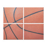 Team Spirit_Basketball texture_Hoops Lover Gallery Wrap Canvas