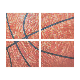 Team Spirit_Basketball texture_Hoops Lover Canvas Print
