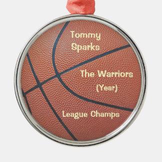 Team Spirit_Basketball texture_Hoops Lovers' award Metal Ornament