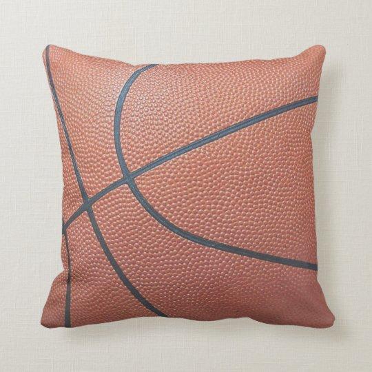 Team Spirit_Basketball texture look_autograph-read Throw Pillow