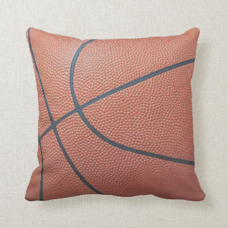 Team Spirit_Basketball texture look_autograph-read Throw Pillow