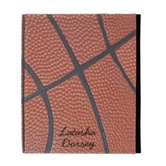 Team Spirit_Basketball texture look_AutographStyle iPad Folio Case