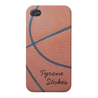 Team Spirit_Basketball texture look_AutographStyle iPhone 4 Case