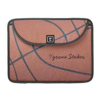 Team Spirit_Basketball texture look_AutographStyle Sleeve For MacBooks