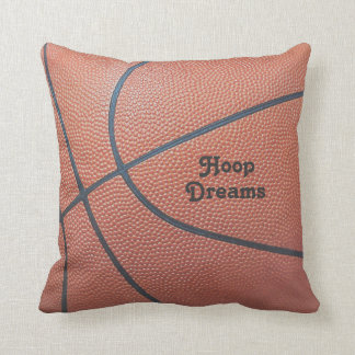 Team Spirit_Basketball texture look_Hoop Dreams Throw Pillow