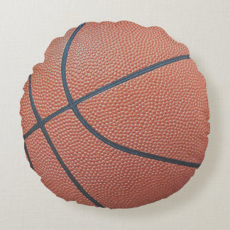 Team Spirit_Basketball texture look_Hoops Lovers Round Pillow