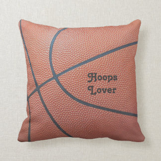 Team Spirit_Basketball texture look_Hoops Lovers Throw Pillow