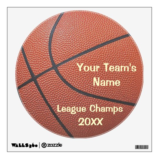 Team Spirit_Basketball texture look_League Champs Wall Sticker