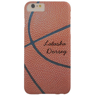 Team Spirit_Basketball texture look_personalized Barely There iPhone 6 Plus Case