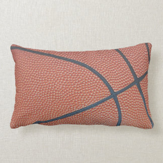Team Spirit_Basketball texture look_roadtrip ready Lumbar Pillow