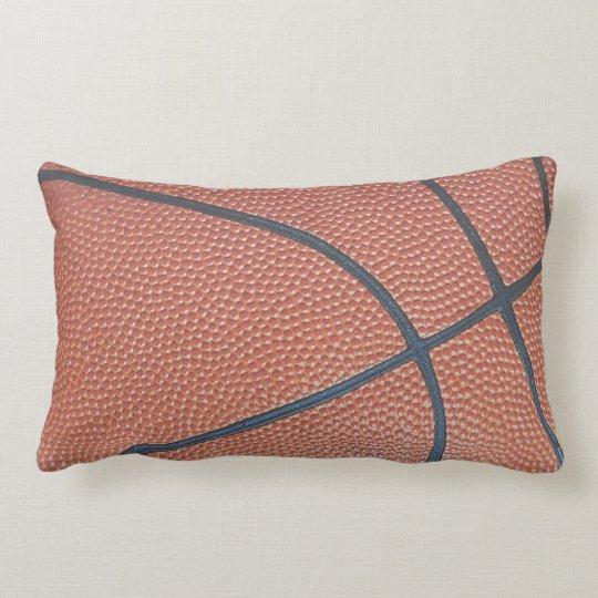 Team Spirit_Basketball texture look_roadtrip ready Lumbar Pillow