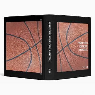 Team Spirit_Basketball texture_Records Organizer 3 Ring Binder