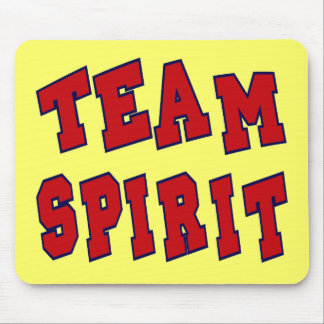 TEAM SPIRIT BLUE AND RED MOUSE PAD