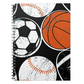 Team sport balls notebook