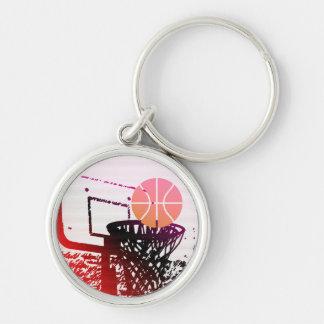 Team Sports Ball Basketball Net Coach Game Key Chain