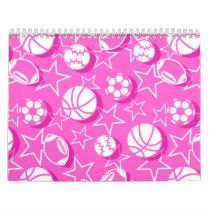Team sports girls calendar