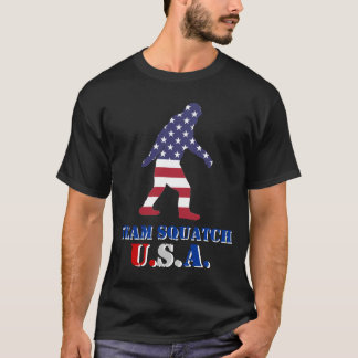 Team Squatch  U.S.A T-Shirt